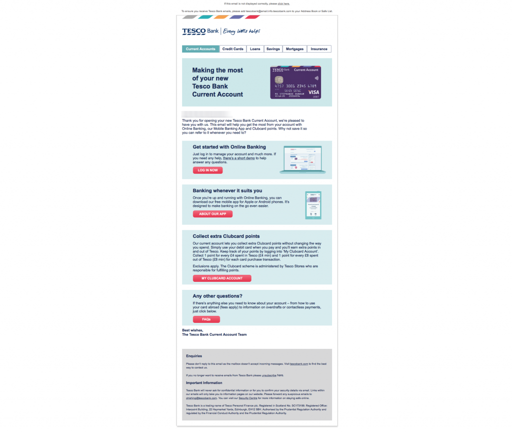 Tesco Bank (UK) Account Application, Digital Banking